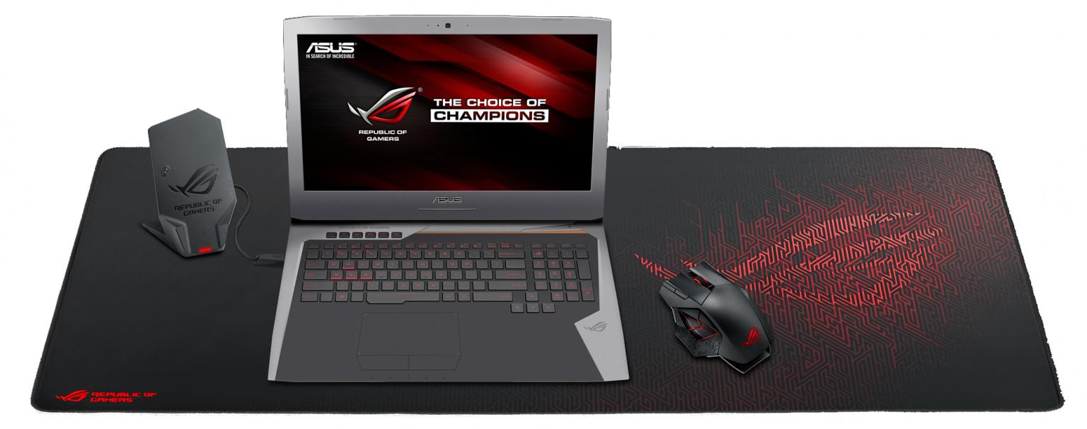 Gaming muismat - Asus - Rog Sheath - Multicolor / Rood / Zwart - Rood